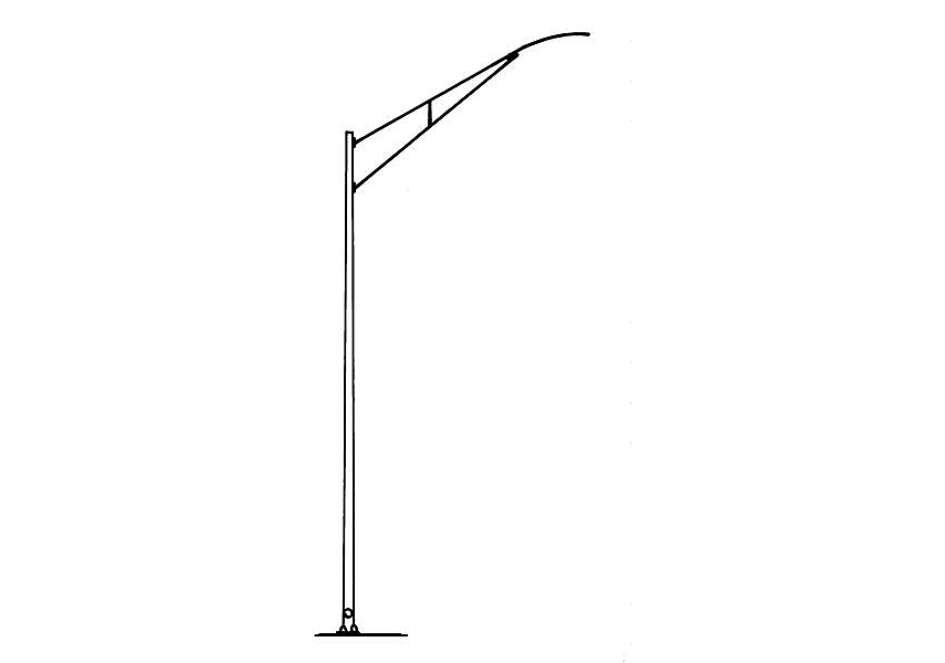 Used Light Poles : Light pole newcore global pvt ltd