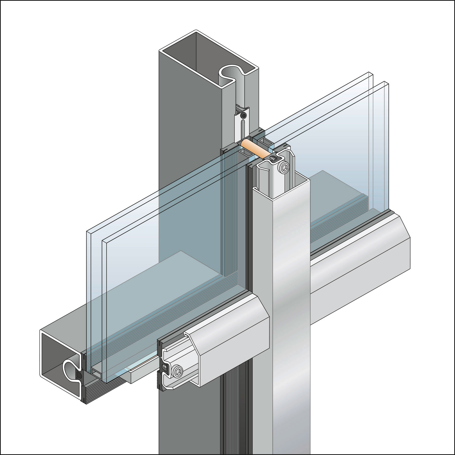Thermal Unitized Curtain Wall System Newcore Global Pvt Ltd